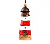 Красный керамический маяк колокольчик
