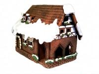Новогодний керамический домик