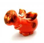 керамическая фигурка свинка