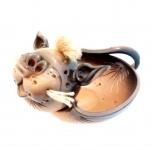 керамическая фруктовница в форме кота