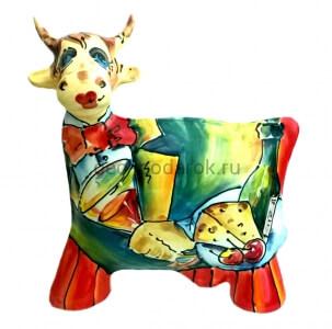 фигура коровы керамическая