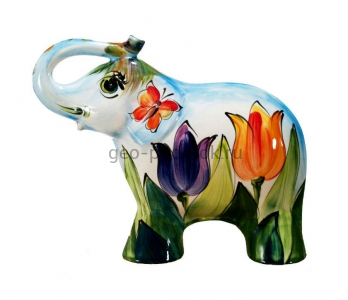 Фигурка слоник «Тюльпаны» (L) туров арт фото