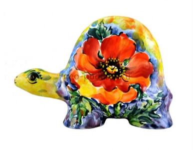 """Статуэтка черепаха """"Мак-букет"""" (M) фото"""