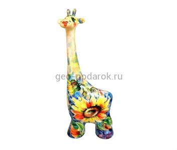 """Статуэтка жираф """"Подсолнух-букет"""" (M) туров арт"""