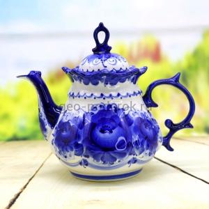 чайник анемон гжель