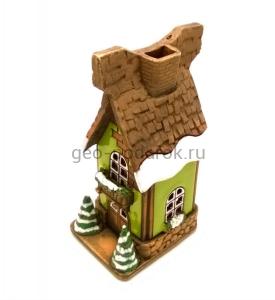 зеленый сувенирный домик Зимний