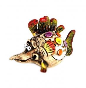 Керамическая копилка «Рыбка - Денежный Мешочек»