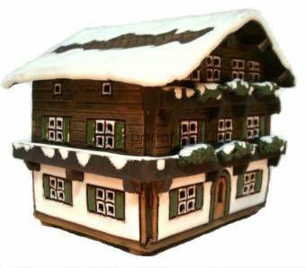 Альпийский домик - керамическая фигурка
