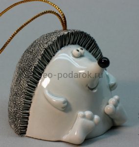 керамический колокольчик еж