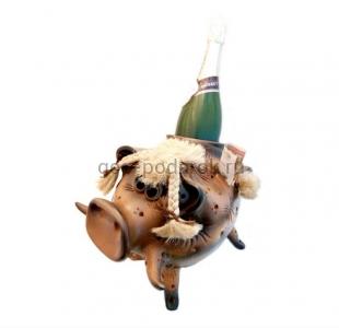 копилка бутылочница Свинка