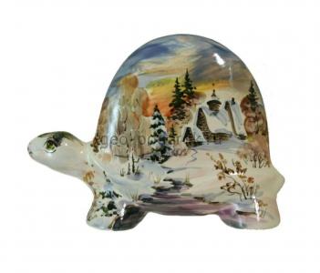 """Фигурка черепаха """"Пейзаж-зима"""" (M) фото"""