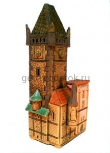 """Керамический домик """"Староместская ратуша в Праге"""""""