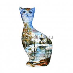 "фигурка котика ""Пейзаж-зима"" (V)"