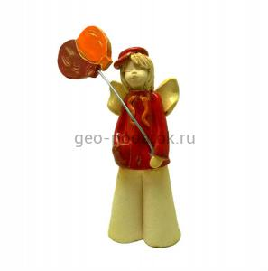 """Статуэтка """"Ангел мальчик с воздушными шарами"""""""