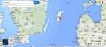 копия маяка-подсвечника Нер Готланд - расположение на карте