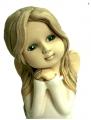 керамическая фигурка ангела в белом платье
