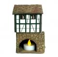 Керамический домик-подсвечник с лестницей свеча