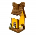 желтый сувенирный домик Зимний фото