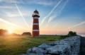 керамический маяк-подсвечник Нер Готланд - реальное фото