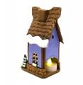 сиреневый сувенирный домик Зимний
