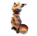 керамический светильник кот