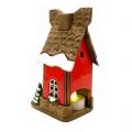 красный сувенирный домик Зимний