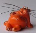 керамическая фигурка кот толстый