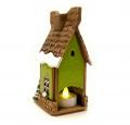 зеленый сувенирный домик Зимний фото