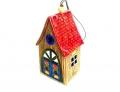 колокольчик цветочный домик с красной крышей